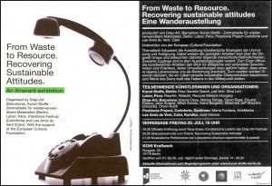 Flyer Exhibition `From waste to resource`